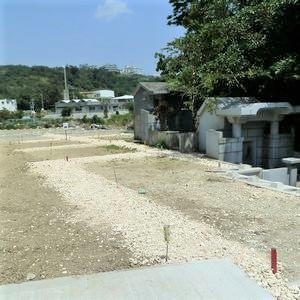 墓を建てる前の墓地
